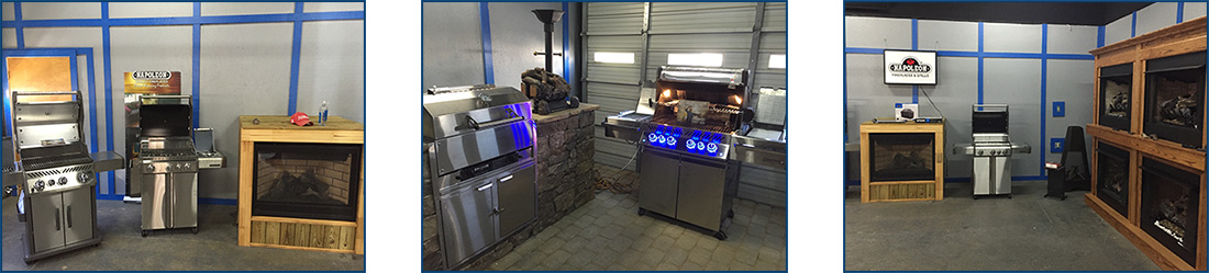Propane grills and fireplaces
